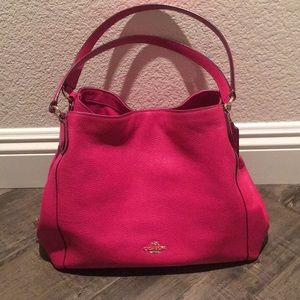 Authentic Coach Edie Shoulder Carryall Handbag